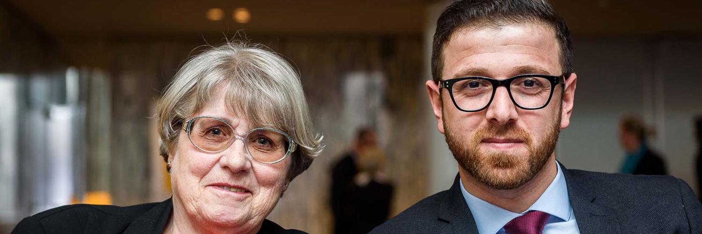 Ursula Reinartz und Kheder Khalaf/ Foto: Markus Quabach